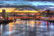 Tyne Bridge Newcastle sunset by Dan Davidson