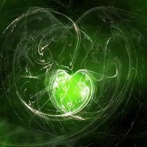 Herz grün von Christine Bässler