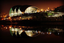 Sage Gateshead Reflected at night by Dan Davidson