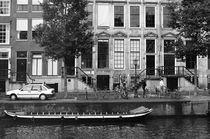 Amsterdam canal view by Bogdan Grigorescu