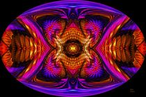 Juke Jam Oval Mandala by Richard H. Jones