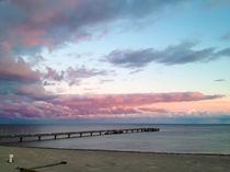 Abendstimmung an der Ostsee von Michaela Weber