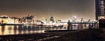London Skyline at Night by henry clayton