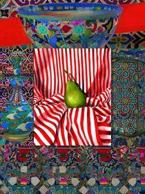 Pear in Red Stripe by Seema  Sayyidah