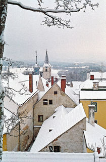Weitra 2 - A small town in winter by Leopold Brix