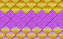 Tilework gold and purple gradient by Linda Carlile