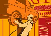 Mechanic Automotive Repairman Retro by patrimonio