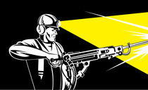 miner with jack leg drill von patrimonio