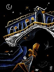 PoNTe Di RiALTo  - Gondola Canal Grande - Venice Art, Italy von nacasona