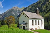 Kirche in Baad, Kleinwalsertal, Österreich von Matthias Hauser