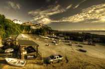 Dawn at Newquay Harbour von Rob Hawkins