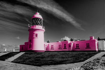 Pink Lighthouse of St Ives by Rob Hawkins