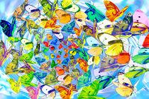 Schmetterlingsflucht 2 von Angelika Wiedemeyer