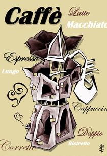 Caffè Espresso - Moka Coffee Art, Italia von nacasona