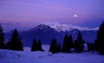 Mond in den Alpen von Julia  Berger