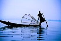 Fisher boat on Lake Inle, Burma (Myanmar) von ingojez