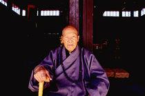 Old monk at Taoist Temple in China von ingojez