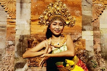 Girl dancer in Bali, Indonesia by ingojez