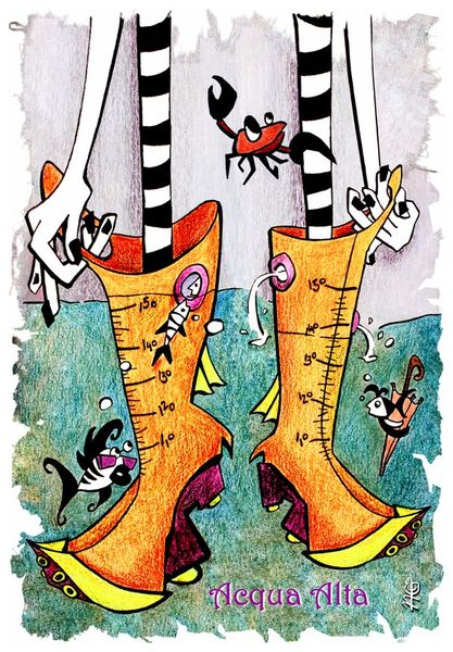 Children-book-illustration-kinderbuch-acqua-alta-venice-italy