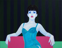 The Snow Queen. 70-90 cm. canvas, oil. by Vasiliy Zherebilo