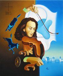Maestro. 90-70 cm.canvas, oil by Vasiliy Zherebilo