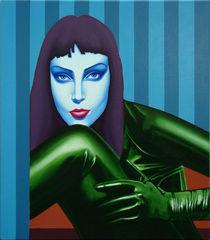 The charmer. 75-70 cm. canvas, oil. by Vasiliy Zherebilo
