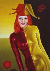 My wife the Harlequin. 85-60 cm. canvas, oil. by Vasiliy Zherebilo