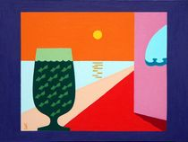 Evening cocktail. 50-70 cm. canvas, oil by Vasiliy Zherebilo