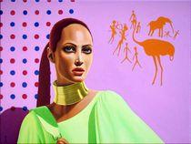 The Ms. ?rcheology. 60- cm.80 canvas, oil. by Vasiliy Zherebilo