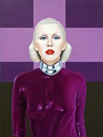 The singer. 80-60 cm. canvas, oil. by Vasiliy Zherebilo