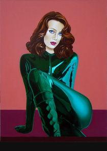The actress. 80-60 cm. canvas, oil. by Vasiliy Zherebilo