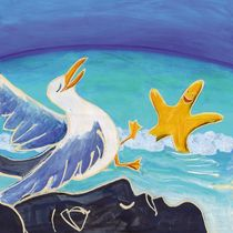 the seagull, the Night and the star by Stefano Bonif