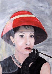 Frau mit rotem Hut by Elisabeth Maier