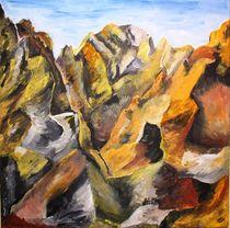 Berge - Acryl auf Leinwand von Olivia Schmidt-Bickerle