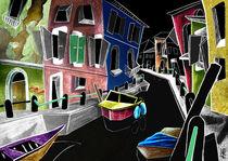 CoLoRi Di BuRaNo - Kanal Venedig Kunst Gemälde, Italien Malerei von nacasona