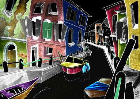 Burano-venice-canal-fine-art-paintings-kanal-venedig-venezia