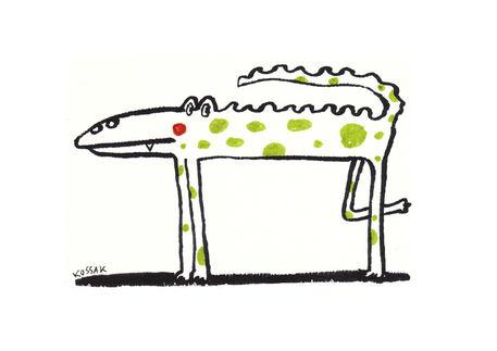 Green-dot-animal