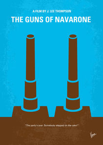 No168 My The Guns of Navarone minimal movie poster von chungkong