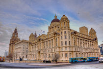The Three Graces of the world famous Liverpool Waterfront  by Pete Lawless