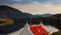 Cottage with Red Roof at Loch Shieldaig by braveheartimages