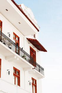 Wide angle view of new buildings in Casco Viejo. Panama City, Panama, Central America. by David Castillo Dominici