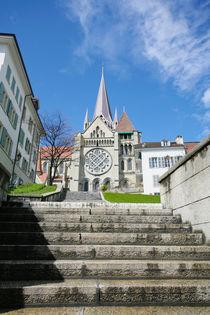 The historic center of Laussane, in Switzerland   by David Castillo Dominici