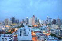 sunset over a city in central america  by David Castillo Dominici