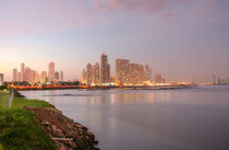 Shoreline of Panama City Beach at sunset  by David Castillo Dominici