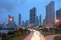 Panama City, Panama.  Stunning view by the sunset. by David Castillo Dominici