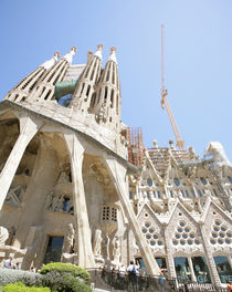 Sagrada Familia by Antoni Gaudi in Barcelona Spain by David Castillo Dominici