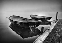Two boats at Lake Hald by Paul Davis