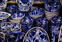 Blue and White Mexican Pottery by John Mitchell