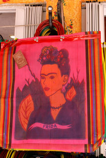 Frida Kahlo Shopping Bag by John Mitchell