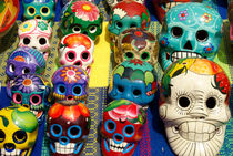Grinning Mexican Skulls by John Mitchell